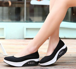 nurses rubber shoes Australia - Hot Sale- Fashion Mesh Casual Tenis Shoes Shape Ups thick low heel Woman nurse Fitness Shoes Wedge Swing Shoes moccasins plus size