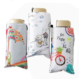 $enCountryForm.capitalKeyWord Australia - Popularity Mini Sun Umbrella Five Folding Black Coating Portable Pocket Women Umbrellas Brand Windproof Parasols Summer Paraguas