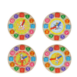Learning For Infants Australia - Wooden Digital Geometry Clock Wooden Blocks Toys For Children Educational Toy Brinquedos Menino Wooden Toys For Baby Boy Girl