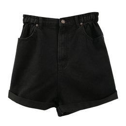 $enCountryForm.capitalKeyWord Australia - Cotton Denim Zipper Button Multi-pocket Black Hem Denim Shorts Female 2019 New Ins Wear Women Thin Slim Trousers