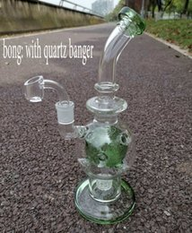 Big Clear Bongs NZ - Newest Fab Egg Glass Beaker Bongs Showerhead Perc Bong 11 Inches Recycler Dab Rig Water Pipes Big Oil Rigs Clear Bubbler Thick Pipe