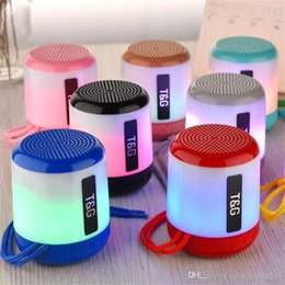 $enCountryForm.capitalKeyWord Australia - TG156 Colourful Lamp Light Mini Portable Wireless Bluetooth Speaker Subwoofer Bass Stereo Outdoor Sport Mp3 Mussic Player With Lanyard Strip