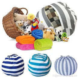 $enCountryForm.capitalKeyWord Australia - Creative Storage Stuffed Animal Storage Bean Bag Chair Portable Kids Toy Storage Bag Play Mat Clothes Organizer Tool 5pcs LJJ_OA4335