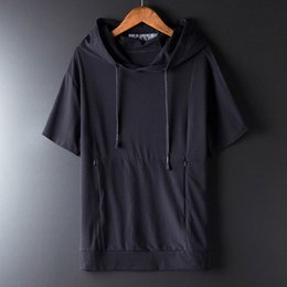 $enCountryForm.capitalKeyWord Australia - Summer Marcelo White Cap Short Sleeve T-shirt Men's Chao Brand Loose Hat Half Sleeve Guard Fashion Korean Bf T-shirt Burlon Shirt A12