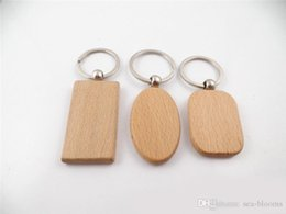 China Free DHL DIY Blank Wooden Keychain Keychains Rectangle Square Round Heart Shaped Oval Wooden Key Chain Ring Holder Business Gift D274LR cheap acrylic keychains blanks wholesale suppliers