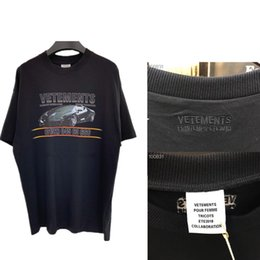 $enCountryForm.capitalKeyWord Australia - Car Vetements Women Men T-shirts 1:1 High-quality Digital Direct Injection Tees Embroidery Black Hip H Vetements T Shirt