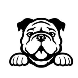 $enCountryForm.capitalKeyWord UK - Bulldog Cute Sticker Decal Peeking Puppy Car Window Truck Cute And Interesting Fashion Sticker Decals