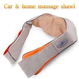 Massager Car Australia - U Shape Shoulder Back Neck Massage Shawl Electrical Shiatsu Kneading Body Massager 3D Massagem Car Home Pain Relief Machine