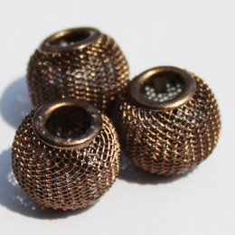 Mesh Jewelry Australia - New Arrival 50Pcs 30MM Round Ball 13 Colours Available Large Hole Mesh Net European Beads for Jewelry & European Bracelet