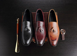 $enCountryForm.capitalKeyWord NZ - fashion lace up tassel mens Dress Shoes pointed toe men's Oxfords black Wedding shoes big size 38-46 DM71