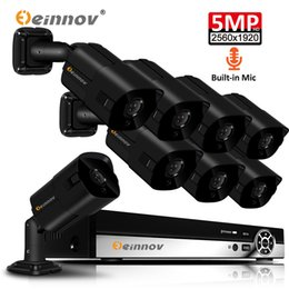 $enCountryForm.capitalKeyWord Australia - Einnov 5MP POE CCTV H.265 Video Surveillance Kit NVR Set Outdoor Home Security Camera System Wired 8 microphone system XMEye HD