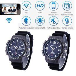 $enCountryForm.capitalKeyWord Australia - 4K WiFi Smart Watch Camera HD 1080P WiFi IP P2P wristwatch camera with Night Vision LED Light Wireless network home security camcorder