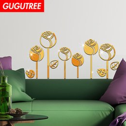 $enCountryForm.capitalKeyWord Australia - Decorate Home 3D flower cartoon mirror art wall sticker decoration Decals mural painting Removable Decor Wallpaper G-316