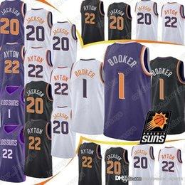 Logo jerseys online shopping - 1 Devin Basketball Jersey Booker Josh Jackson DeAndre Ayton Jerseys Embroidery Logos men