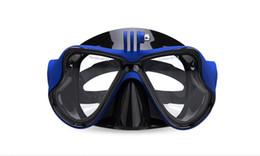 Swim Glasses Anti Fog Australia - Scuba Diving Mask Goggles Swimming Snorkeling Anti Fog Coated Tempered Glass 100% Leak-Proof Design Compatible with GoPro snorkel equipment