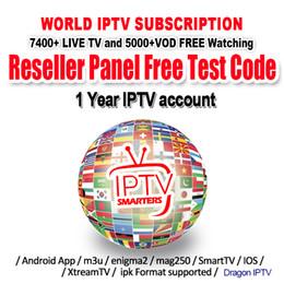 Vente en gros IPTV M3u Smarters Pour Smart Androd tv box 6000+ Europe Français Arabe Anglais UK USA USA IPTV 1 Abonnement IPTV