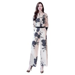 $enCountryForm.capitalKeyWord UK - Women's suit spring and autumn new fashion temperament quality printing ladies suit two-piece (jacket + pants)