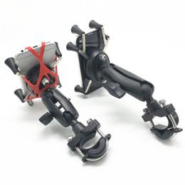 عام جودة البلاستيك دراجة نارية المقود السكك الحديدية جبل حامل الهاتف الخليوي X- قبضة لفون ل يتصاعد رام