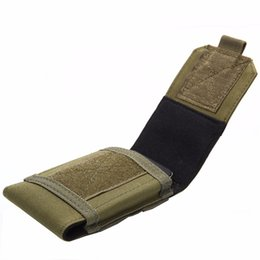 Army equipment online shopping - Tactical Holster MOLLE Army Camo Camouflage Bag Hook Loop Belt Pouch Holster Cover Case For The Mobile Phone Outdoor Equipment