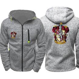 5d4c59df6c34 Harry Potter Print Men Sports Casual Wear Hoodies Zipper Fashion Tide  Jacquard Fall Sweatshirts Spring Autumn Jacket Coat Tracksuit Tops
