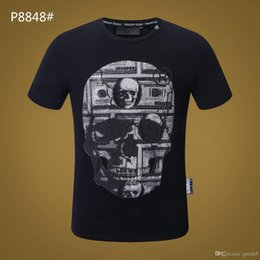 Cotton Drill Fabrics Australia - 19ss Luxury Fabric Brand Men's T-shirt New Hot Drill skull T-shirt Half Sleeve T-shirt new products Quick-drying cotton t shirt new for