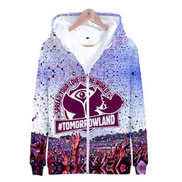 Zipper Clothes Australia - Tomorrowland Spread Your Love To The World Sweatshirt Hip Pop Men Women Zipper Hoodies Hooded Streetwear Clothes