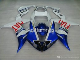 $enCountryForm.capitalKeyWord Australia - 100% Fitment. High quality Injection molding fairing kit for YAMAHA R1 2002 2003 blue white fairings YZF R1 02 03 VC36