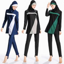 Swimsuits Hijab Australia - Moslim Women Muslim Swimwear Modest Women Muslim Hijab Swimsuit Islamic Swimsuit Plus Size Swimwear Beach Bathing Suit