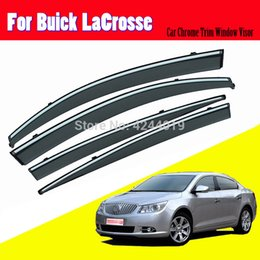 chrome window trims UK - Car Awnings Shelters Window Visors Sun Rain Shield Sticker Cover Plating Chrome Trim Auto Accessories For Buick LaCrosse 2009-15