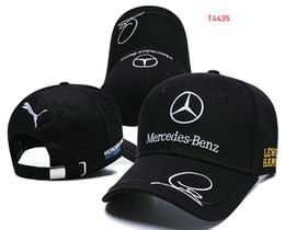 Alta qualidade Mercedes Benz cap Hamiltons Assinatura snapback chapéu F1 campeão Corrida esportes Baseball chapeau casquette automóvel gorras 12