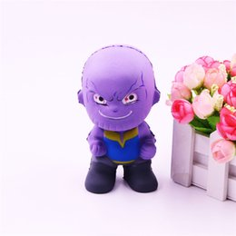$enCountryForm.capitalKeyWord UK - Marvel The Avengers Cartoon Thanos Squishy Toys Slow Rising Squeeze Decompress Toys Phone Charms Kids Gift