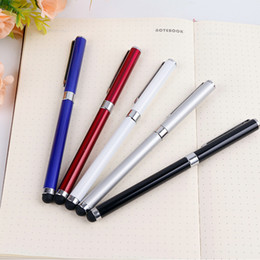 Iphone wrIte online shopping - 2 in Metal capacitive stylus pen write pen for Tablet Pc mobile phone or with Rubber for iphone samsung