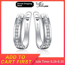 $enCountryForm.capitalKeyWord NZ - clip on JewelryPalace Cubic Zirconia Anniversary Channel Set Eternity Clip On Earrings Genuine 925 Sterling Silver Fashion Jewelry