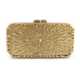 Crystal designer evening bags online shopping - Gold Women s Fashion Crystal Evening Bag Women Bag Wedding Metal Minaudiere Clutch Handbags and Purses Designer Diamond Wedding Box Clutches
