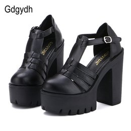china black sandals UK - Gdgydh Hot Selling 2020 New Summer Fashion High Platform Sandals Women Casual Ladies Shoes China Black White Size EURO 42 Roman