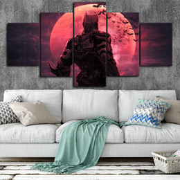 $enCountryForm.capitalKeyWord Australia - Batman Ninja art Canvas Posters Wall Art Framework 5 Pieces Paintings For Living Room HD Prints Pictures
