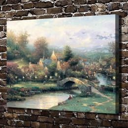 $enCountryForm.capitalKeyWord Australia - Lamplight Village Scenery,Home Decor HD Printed Modern Art Painting on Canvas (Unframed Framed)