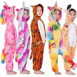 Boys pajamas shorts cotton online shopping - Kigurumi Pajamas For Girls Boys Unicorn Pyjamas Lion Pegasus Cosplay Children Sleepwear Christmas Pijamas MX190919