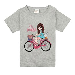 $enCountryForm.capitalKeyWord NZ - P32 Girls Short Sleeve T Shirts For Children 2019 Bike T-shirt Cotton 1-18 Year Kids Teenager Baby Girls Tops Tees Clothes