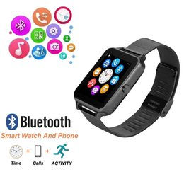 $enCountryForm.capitalKeyWord NZ - Z60 1.5-inch display stainless steel wristband Bluetooth smart watch mobile phone support SIM card TF card smart watch for Samsung xiaomi