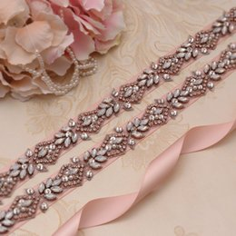 Shop Rose Gold Bridal Sash Uk Rose Gold Bridal Sash Free Delivery
