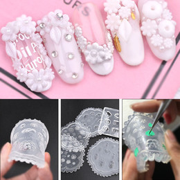 3d Acrylic Nails Australia - 3d Acrylic Carving Mold For Nail Art Decorations Diy Design Soft Silicone Nail Art Flowers Leaves Pattern Template Nails Art