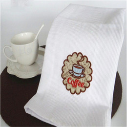 $enCountryForm.capitalKeyWord NZ - 5pcs White pure cotton hand embroidered napkin cloth, wine cup towel, pure cotton dish towel, cover cloth table cushion