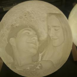 $enCountryForm.capitalKeyWord Australia - 3D printing moon lamp night light Christmas Halloween New Year Custom Gifts for kids baby friends