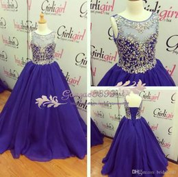 Party chiffon dresses for teens online shopping - 2019 Real Image Beading Chiffon Girls Pageant Dresses Jewel Neck Little Girls Formal Gowns Lace Up Back Kids Birthday Party Gowns For Teens