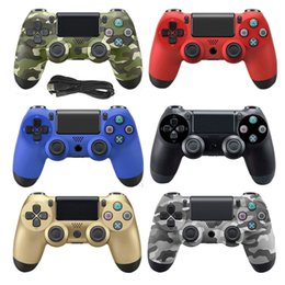 Usb wired controller pc online shopping - Double Shock USB Wired Controller for PS4 PC Joystick M Cable For PS4 PS3 Console For Playstation Dualshock Gamepad