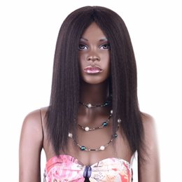 Yaki Remy Human Hair Wigs Australia - Cheap fashionable best unprocessed raw virgin remy human hair long natural color yaki straight beautiful full lace cap wig for women
