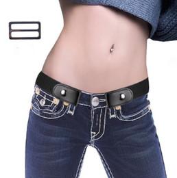 Wholesale designer jeans for men for sale – denim DHL Buckle Free Belt For Jean Pants Dresses No Buckle Stretch Elastic Waist Belt For Women Men No Bulge No Hassle Waist nt