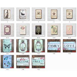 Vendita calda Lady Famiglia Fiore Retro Vintage Metallo Targa in metallo poster Vecchia parete Metal Plaque Club Wall Home art metallo Pittura Decorazione della parete in Offerta
