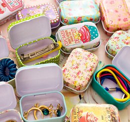 Storage Tin Box Candy Australia - Colorful mini tin box Sealed jar packing boxes jewelry candy box small storage boxes cans earrings headphones gift boxes
